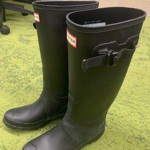 HUNTER rain boots black matte size 8